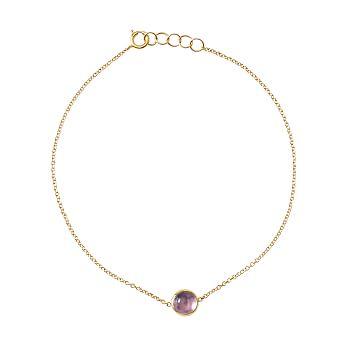 Ariel Gordon Semi-Precious Stone and 14 Karat Gold Bracelet, Amethyst