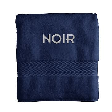 Turkish Hydro Cotton Bath Towel, Navy - Personalized
