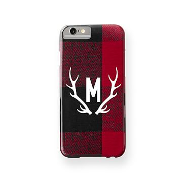 Pattern iPhone Case 6 Buffalo Check Red/Black