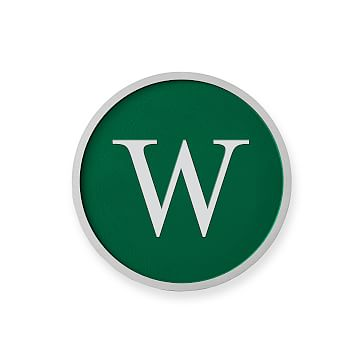 Aluminum Plaque, Solid Circle, 6 inches, Monogrammed, Racing Green