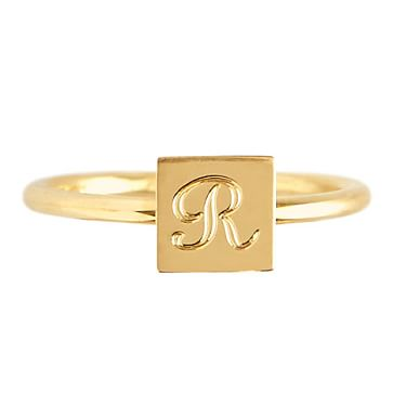 Rocha Ring, Square, Size 7, Gold