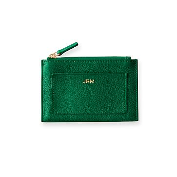 Vivid Zip Card Case, Kelly Green