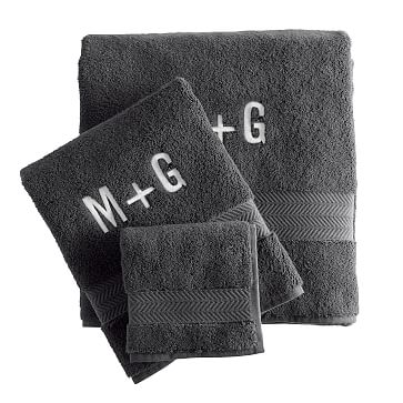 Turkish Hydro Cotton Towel Set, Steel Gray