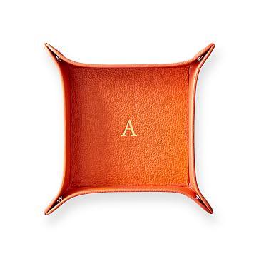 Classic Leather Catchall, Medium, Orange