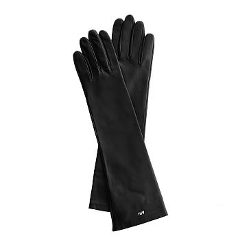Women's Italian Leather Opera Glove, Size 6.5, Extra-Small, Black