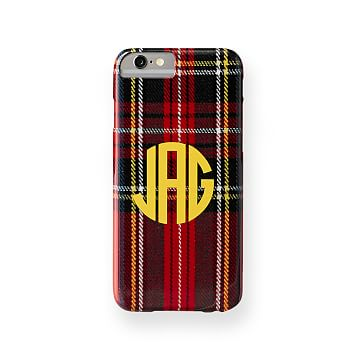 Pattern iPhone6 Case, Red Preppy Plaid