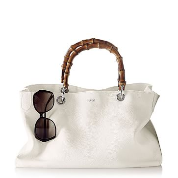 Bamboo Elisabetta Slouch Handbag, White