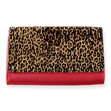 Leopard Clutch, Red