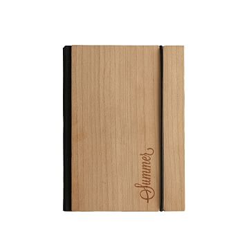 Bookbinder's Wood Paper Notebook Journal, Large with Personalization