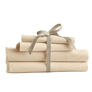 M+G Essential Sheet Set 400 Thread Count, Full, Solid Ivory