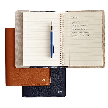 Leather Refillable Journal, White, Insert Only