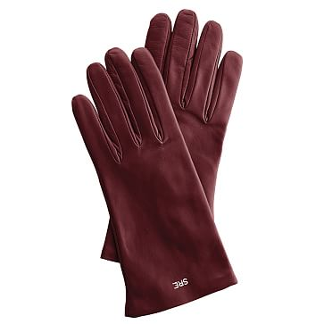 Women's Italian Leather Classic Glove, 6.5, Extra-Small, Oxblood