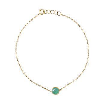 Ariel Gordon Semi-Precious Stone and 14 Karat Gold Bracelet, Emerald