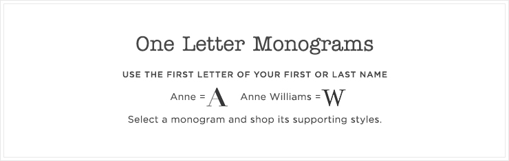 Top 1 Letter Monograms