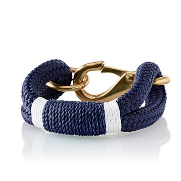 The Kennebunkport Bracelet, Small, Blue and White