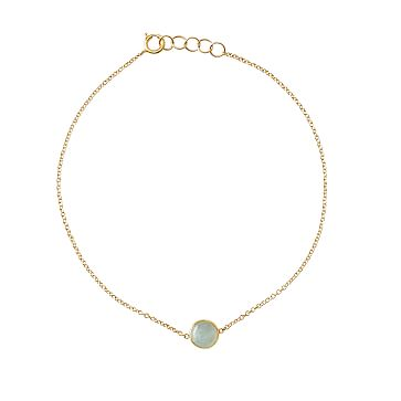 Ariel Gordon Semi-Precious Stone and 14 Karat Gold Bracelet, Aquamarine