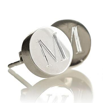 Lia Stud Earrings, Silver