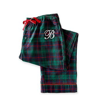 Women's Woven PJ Bottoms, Extra-Large, Green Plaid