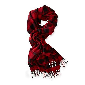 Blanket Scarf, Red Buffalo Check