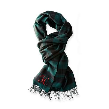 Blanket Scarf, Navy Watch Plaid