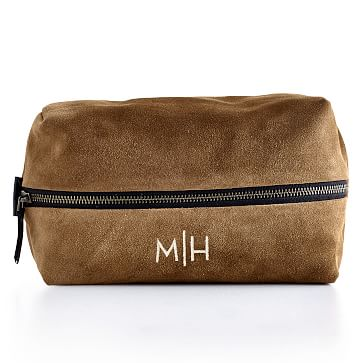 Suede Boho Travel Pouch: Brown