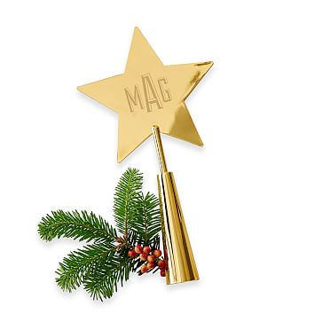 Tree Topper, Star, Gold Finish