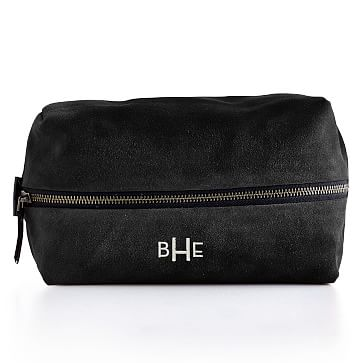 Suede Boho Travel Pouch: Black