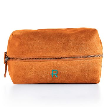Suede Boho Travel Pouch: Orange