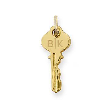 Key Silhouette Fob, Gold Finish