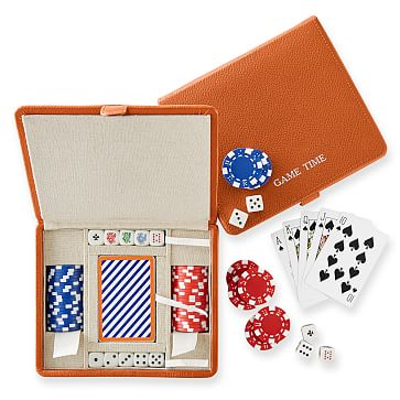 Mini Travel Poker Set, Orange