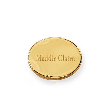 City Compact, Gold Finish, Oval