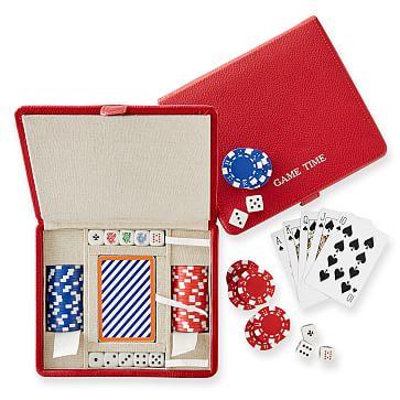 Mini Travel Poker Set, Red
