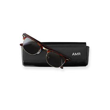 Leather Sunglasses Case, Black