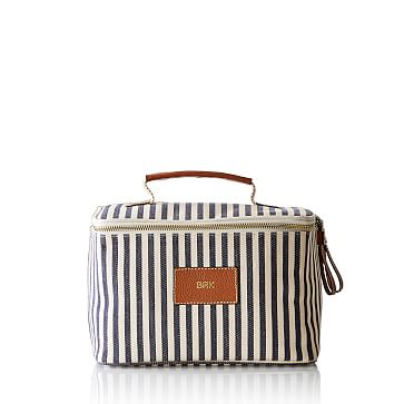 Insulated Lunch Bag, Navy and White Stripes