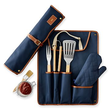 Barbecue Tool Set, Navy