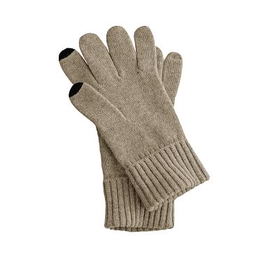 Touch Screen Cashmere Gloves, Camel, One Size