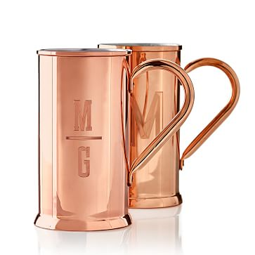Copper Beer Mug, Monogrammed