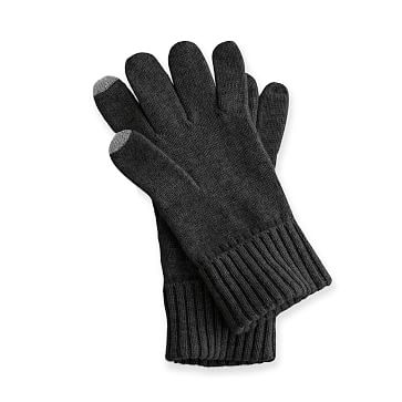 Touch Screen Cashmere Gloves, Black, One Size