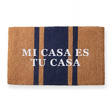 Personalized Doormat, Personalized, Vertical Stripe, Navy