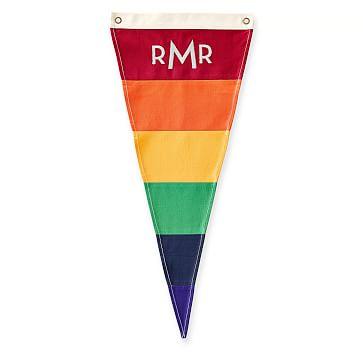 Canvas Pennant, Monogrammed, Pride