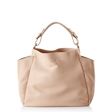 Italian Buckle Hobo Bag, Blush