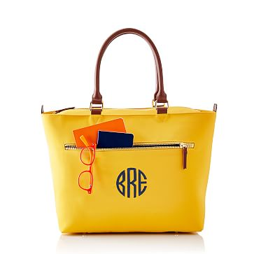 Vibrant Travel Tote, Yellow