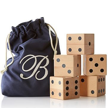Oversized Lawn Dice, Navy
