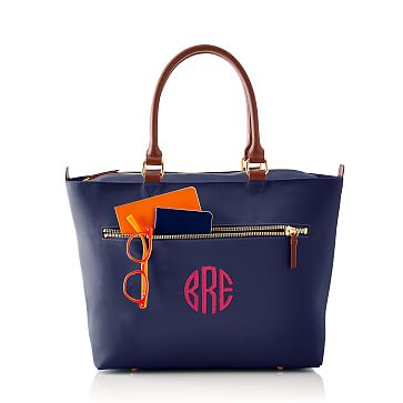 Vibrant Travel Tote, Navy