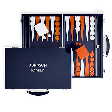 Lacquer Backgammon Set, Navy