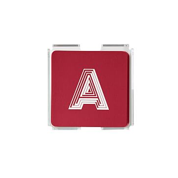 Square Paper Coasters, Set of 50, Square, Red