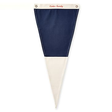 Canvas Pennant, Personalized, Navy