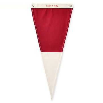 Canvas Pennant, Personalized, Red