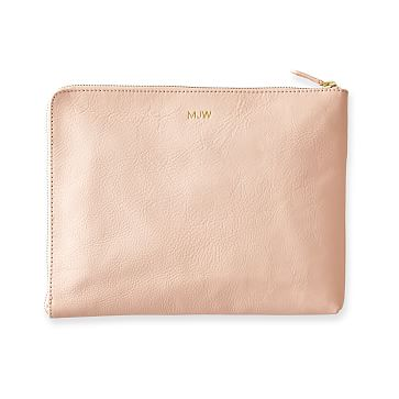 Commute Clutch, Blush