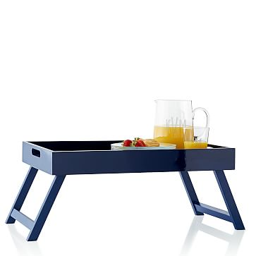 Lacquer Breakfast Tray, Navy